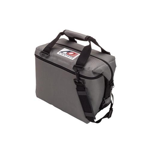 AO COOLERS|酷冷軟式輕量保冷托特包-12罐型 -經典帆布CANVAS系列 炭灰