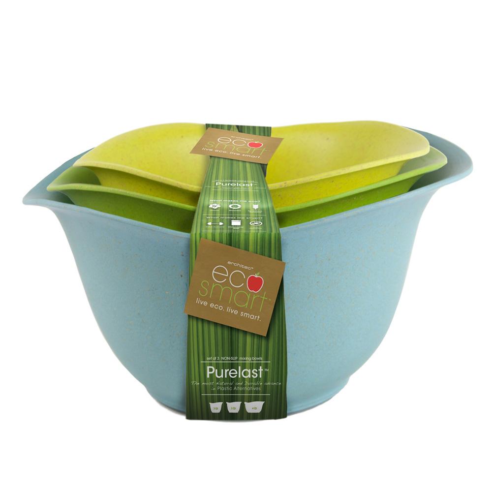 Architec| Ecosmart 料理餐盆(三件組)-淺綠/亮綠/土耳其藍