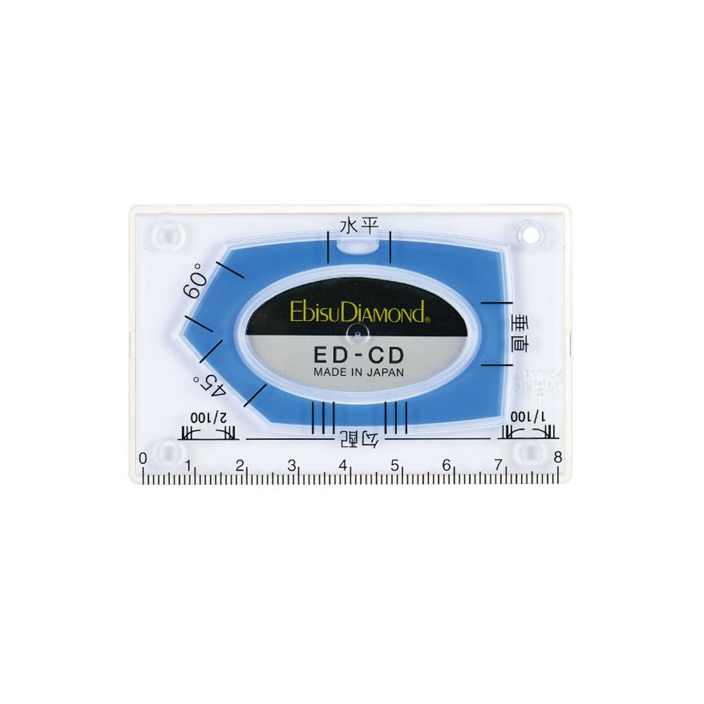 Ebisu Diamond Mini系列 - 卡片式水平尺-藍