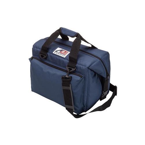 AO COOLERS|酷冷軟式輕量保冷托特包-豪華24罐型 -經典帆布CANVAS系列 海軍藍