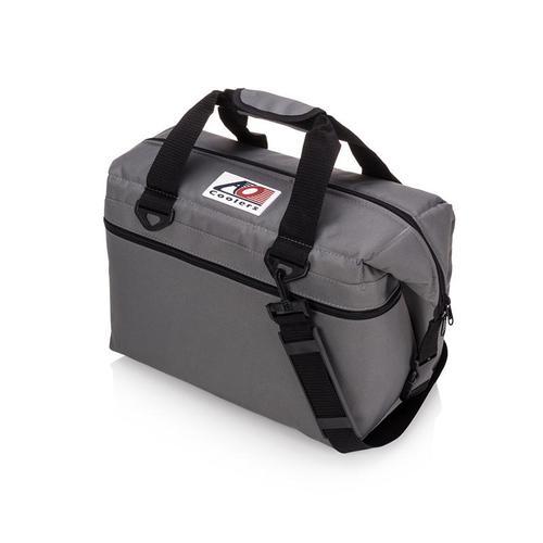 AO COOLERS 酷冷軟式輕量保冷托特包-24罐型 -經典帆布CANVAS系列 炭灰