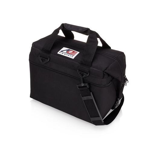 AO COOLERS|酷冷軟式輕量保冷托特包-24罐型 -經典帆布CANVAS系列 經典黑