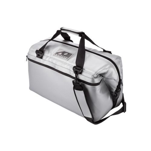 AO COOLERS|酷冷軟式輕量保冷托特包-24罐型-碳纖維風 銀灰