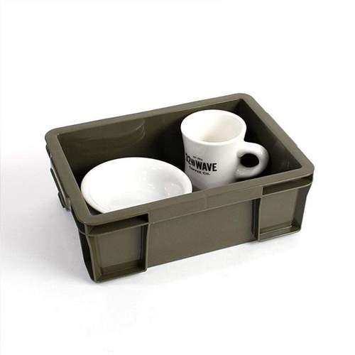 Trusco│ 塑膠收納盒(小)-墨綠