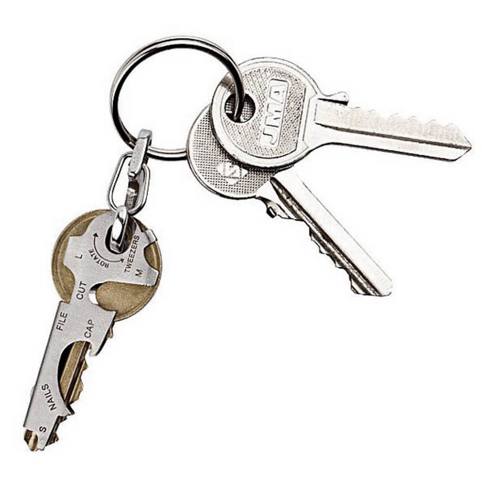 TRUE UTILITY l 獨家組合:英國多功能隨身放大鏡鑰匙圈EyeGlass+8合1迷你鑰匙圈工具組Key Tool