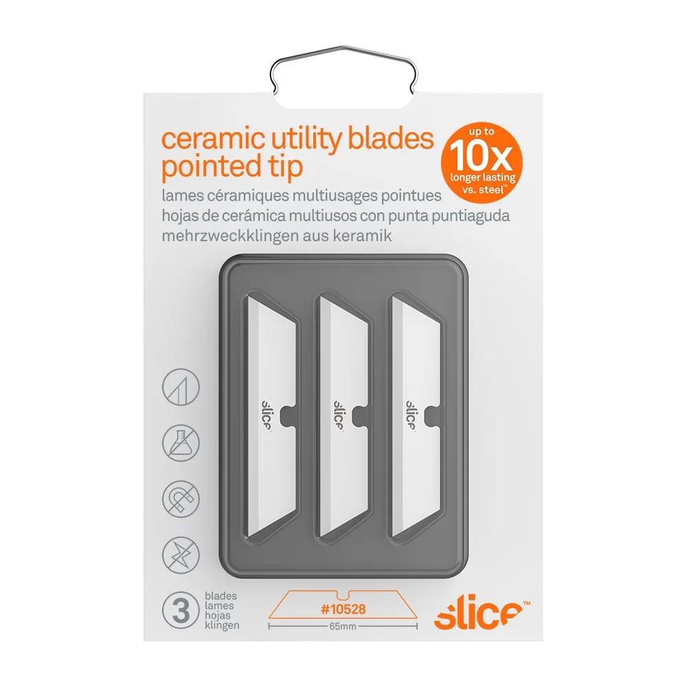 Slice|多用途陶瓷替刃-短刃-尖 3入組