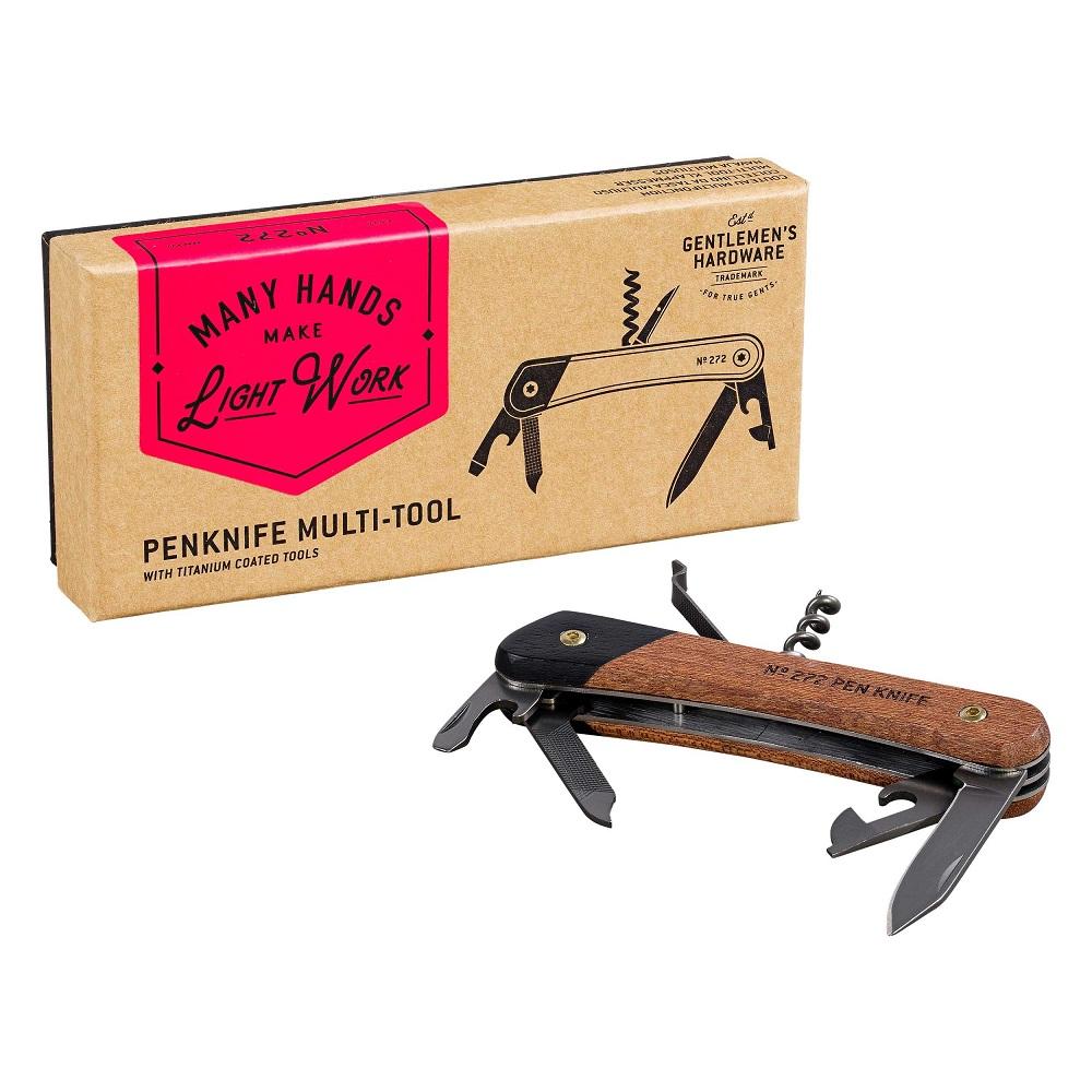 Gentlemen's Hardware|經典多功能用萬用刀-鈦金屬/木質握把