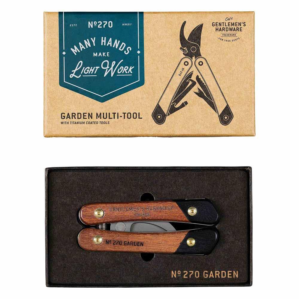Gentlemen's Hardware|經典多用途戶花園花剪-鈦金屬/木質握把