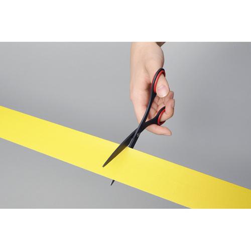 ALLEX林刃物|極黑刃不粘膠剪刀165mm-黑 (11150B)