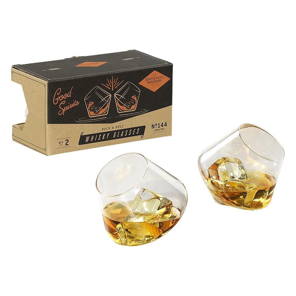 Gentlemen's Hardware 威士忌搖滾造型玻璃酒杯組-兩入組