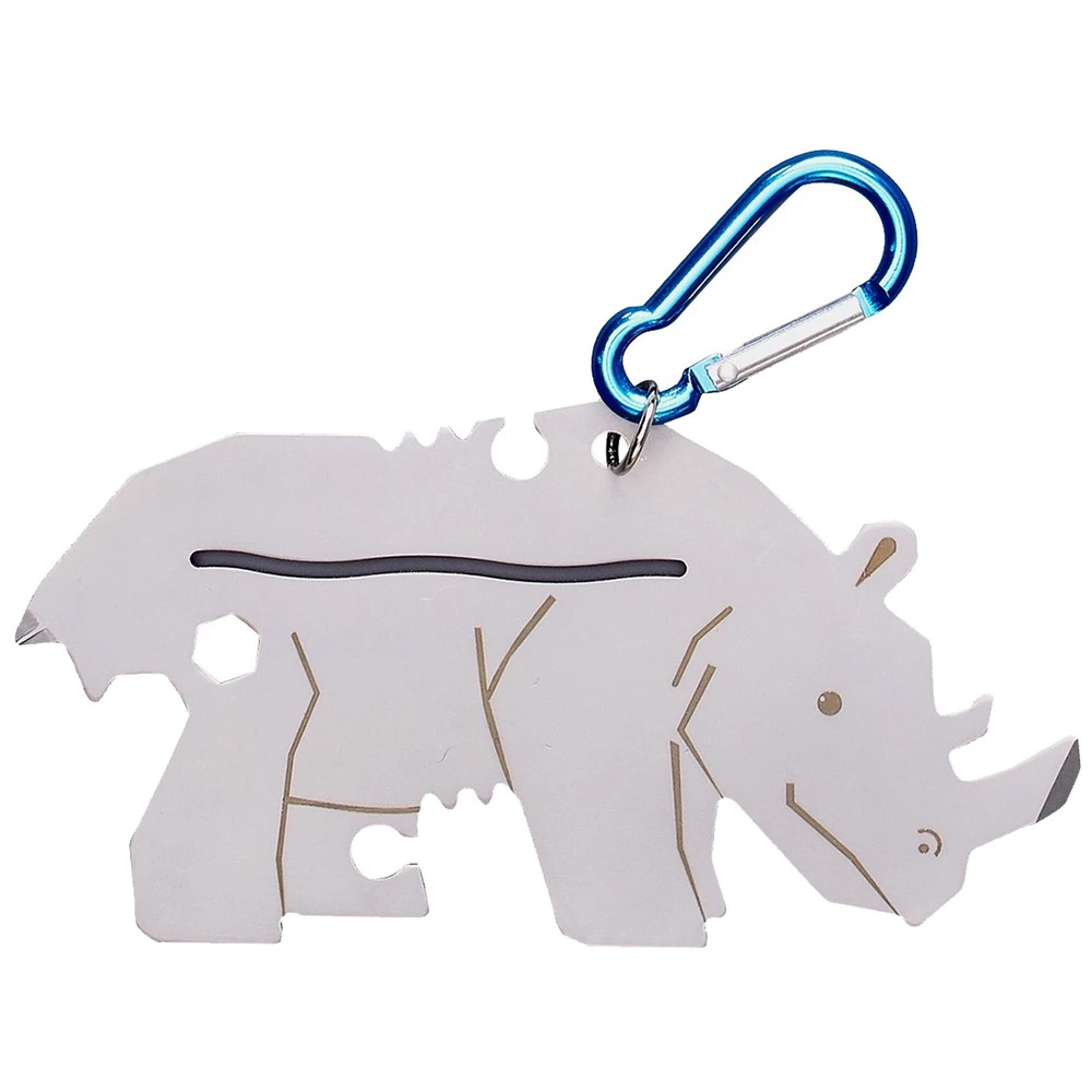 YES STUDIO|7合1黑犀牛造型隨身工具卡