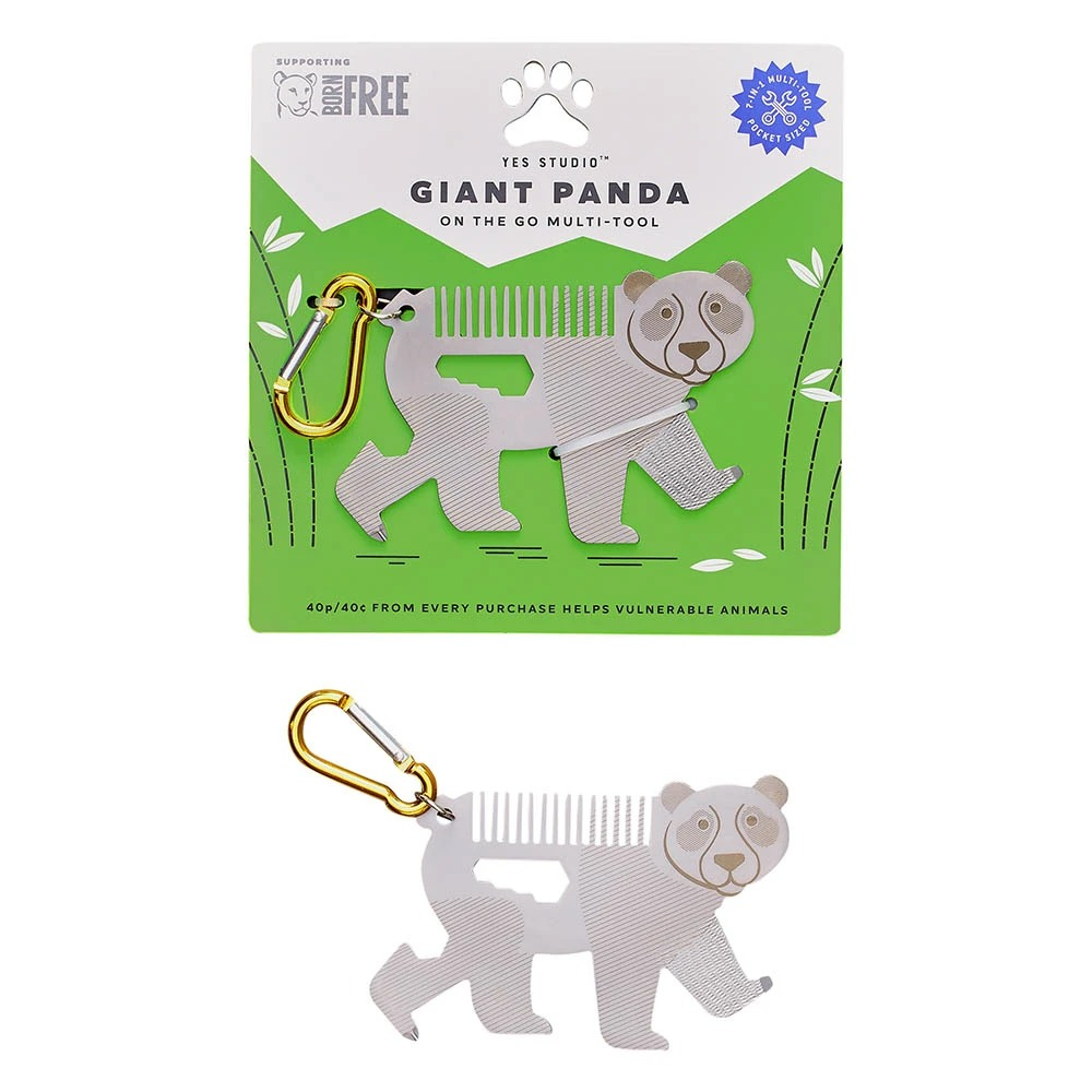 YES STUDIO|7合1熊貓造型隨身工具卡