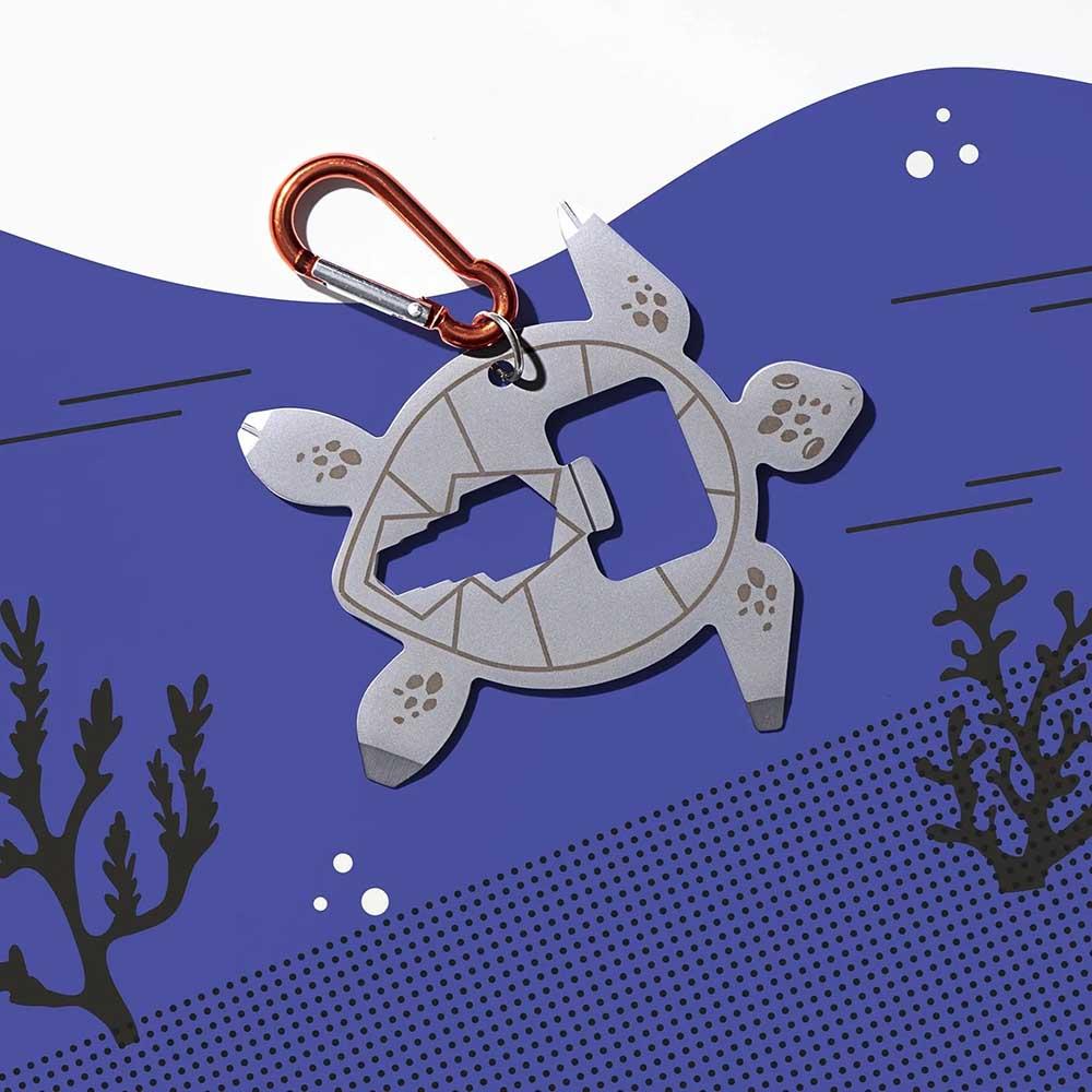 YES STUDIO 7合1海龜造型隨身工具卡