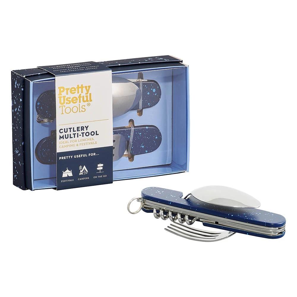 Pretty Useful Tools|(限量)戶外露營刀叉多功能工具組-噴砂午夜藍