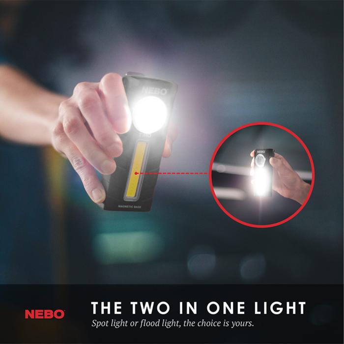 【集購】NEBO|TiNO 超薄型兩用LED燈(2入組)