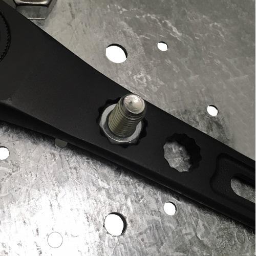 FUJIYA日本富士箭 黑金系列-大開口活動板手38mm x 棘輪梅花板手 (FGL-38-BG)