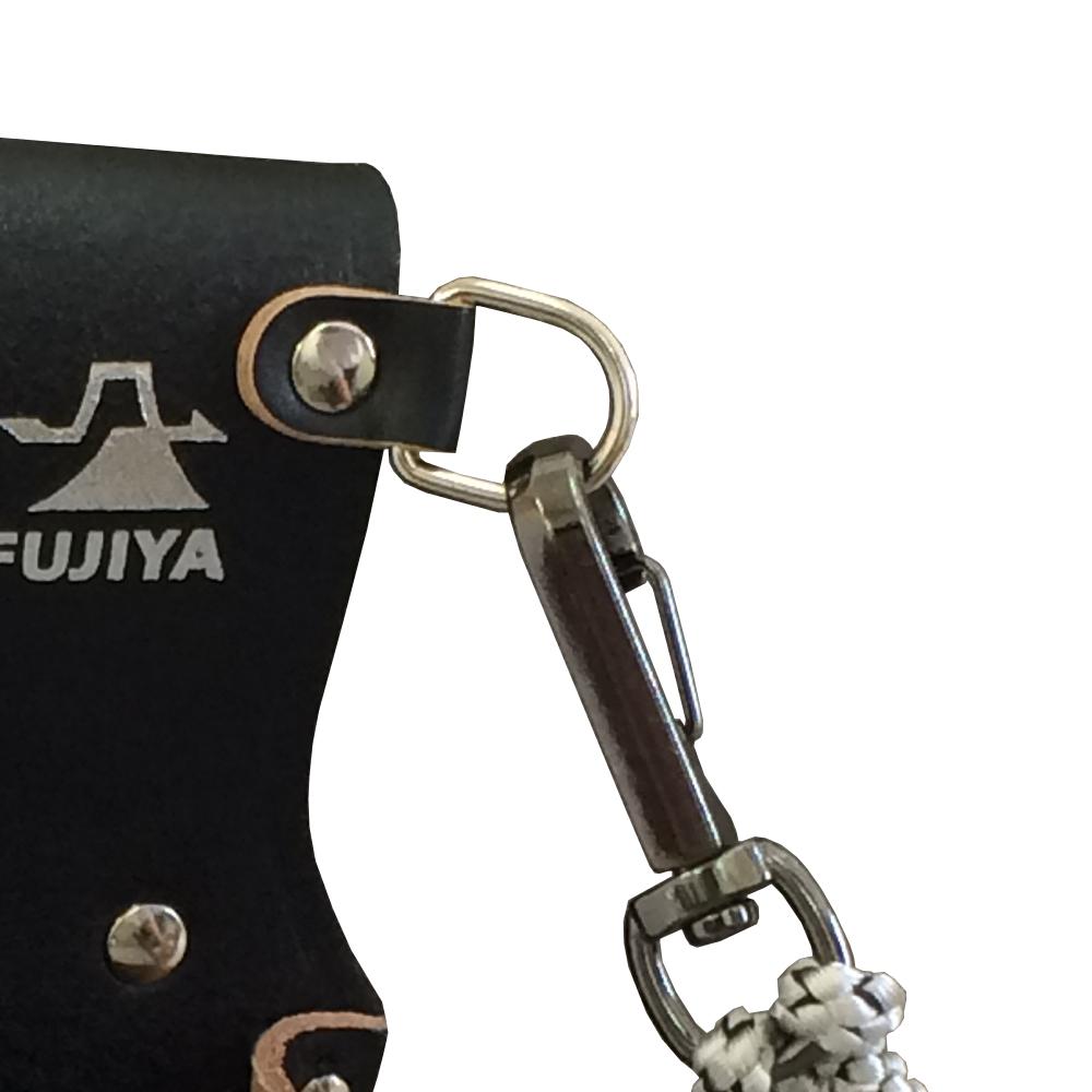 FUJIYA日本富士箭|高級黑牛皮腰間鉗子+起子收納袋-四支型