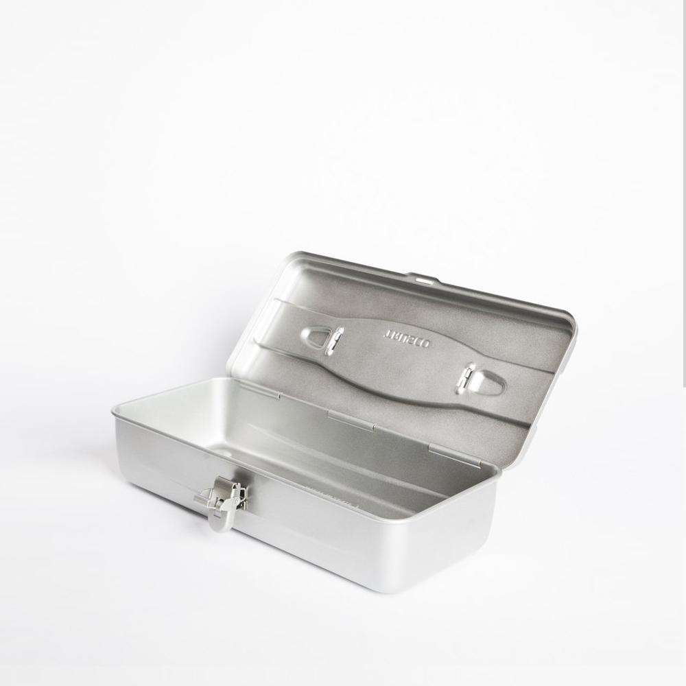 Trusco|流線型工具箱(大)-槍銀