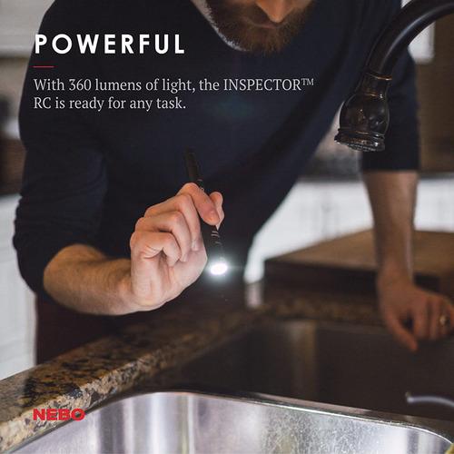 NEBO|Inspector高亮度防水筆型手電筒-彈性供電(吊卡版)