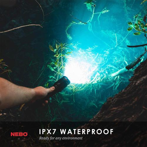 NEBO|REDLINE6K 防水超強光USB充電手電筒-6000流明(盒裝版)