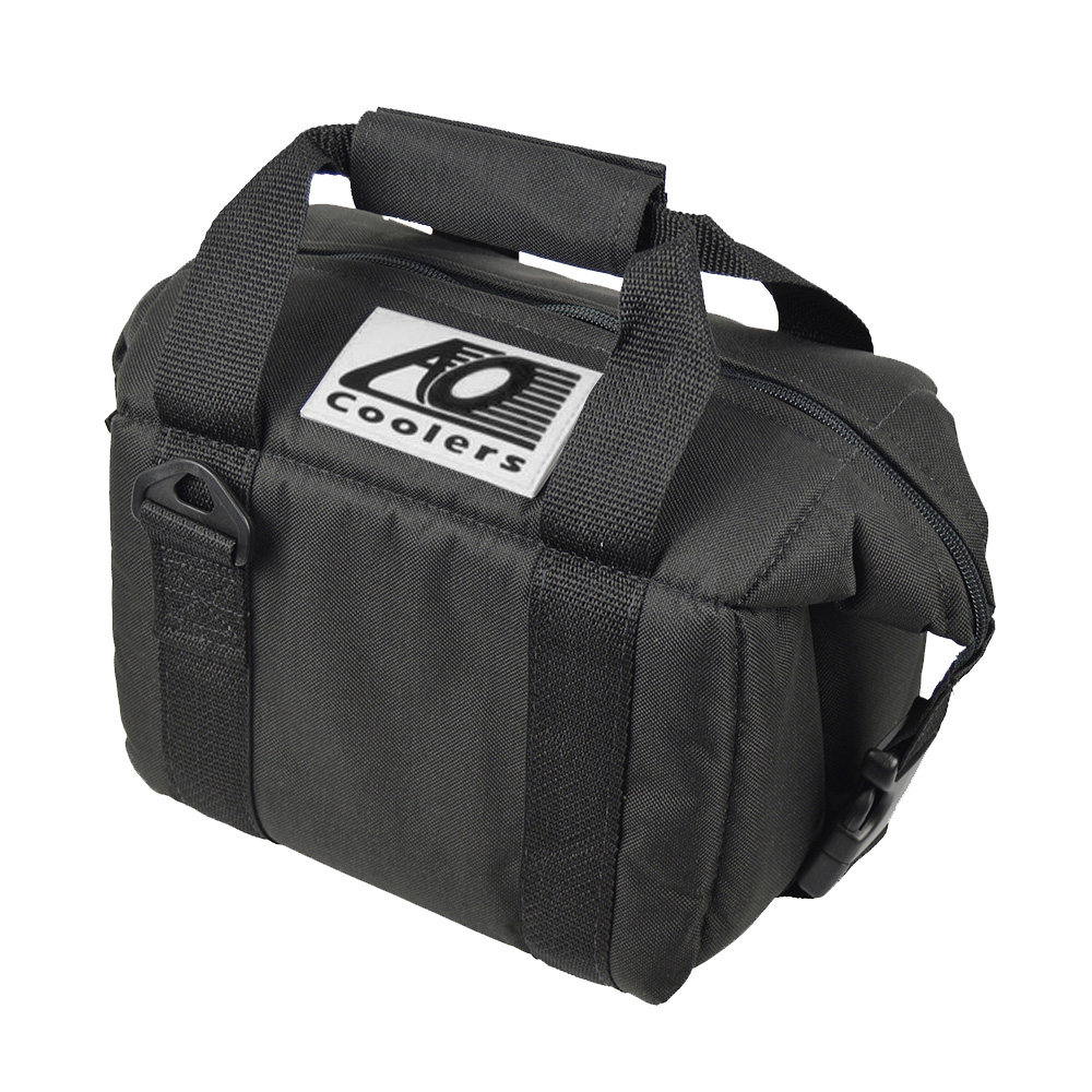 AO COOLERS|酷冷軟式輕量保冷托特包-6罐型 -經典帆布CANVAS系列 經典黑