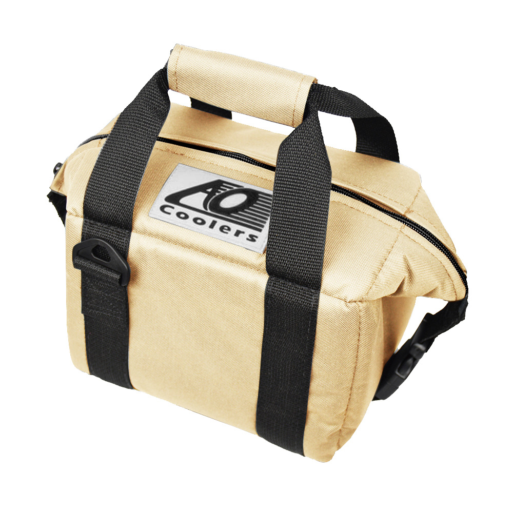 AO COOLERS|酷冷軟式輕量保冷托特包-6罐型 -經典帆布CANVAS系列 沙色