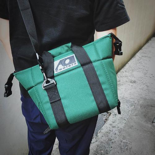 AO COOLERS 酷冷軟式輕量保冷托特包-6罐型 -經典帆布CANVAS系列 森林綠
