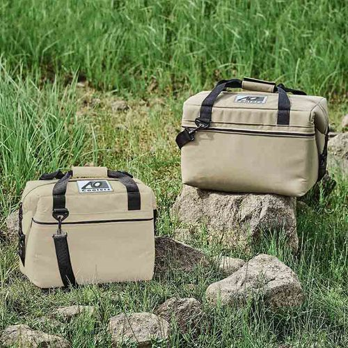 AO COOLERS|酷冷軟式輕量保冷托特包-12罐型 -經典帆布CANVAS系列 沙色
