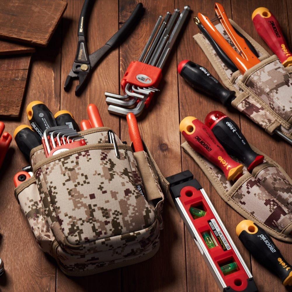 Trusco|數位迷彩-沙漠色系捲筒式工具收納包