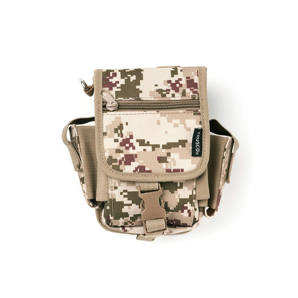 Trusco 數位迷彩-沙漠色系多用途腰間收納袋(大)