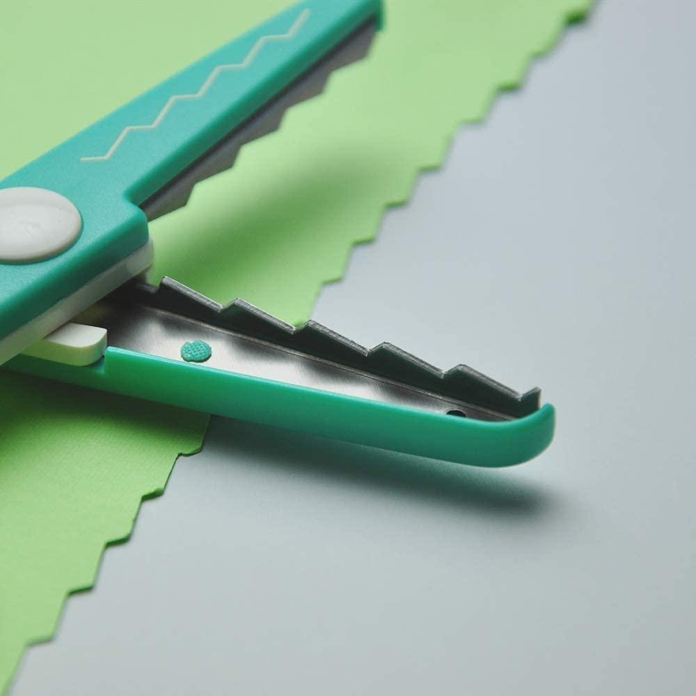 日本CANARY 美術安全剪刀-葉片綠