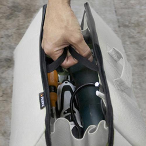 FUJIYA日本富士箭 經典高緩衝大開口工具收納袋(大)-科技灰-FTC2-LIG