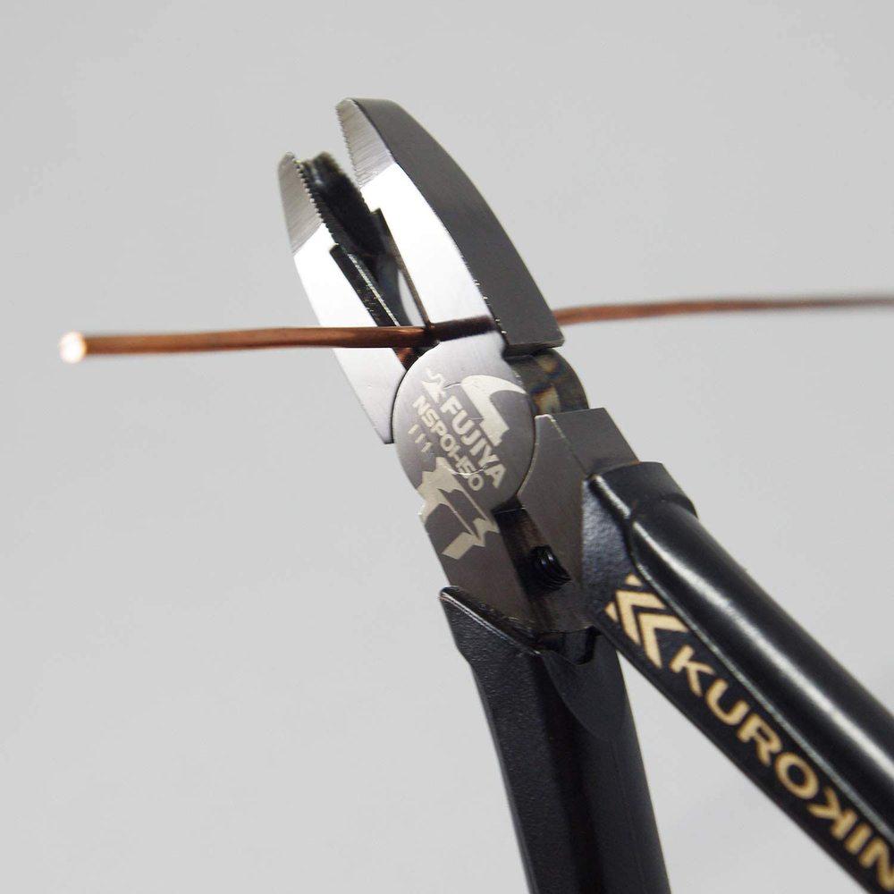 FUJIYA日本富士箭|螺絲拔起迷你鋼絲鉗150mm(黑金)