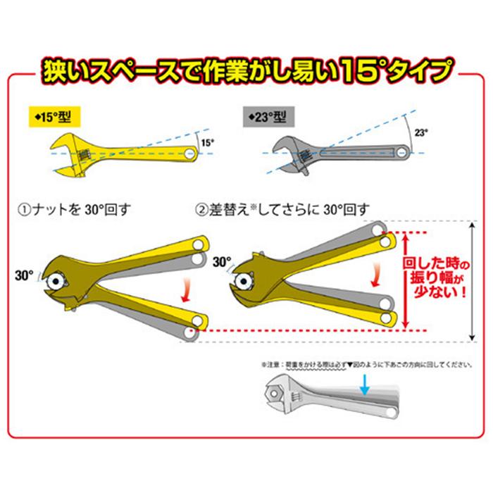 (複製)FUJIYA日本富士箭|活動板手大開口28mm(短版黑金)