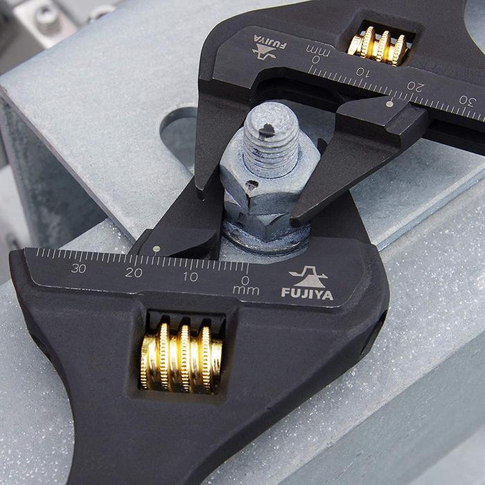 (複製)FUJIYA日本富士箭 先端薄型活動板手-大開口34mm(黑金)