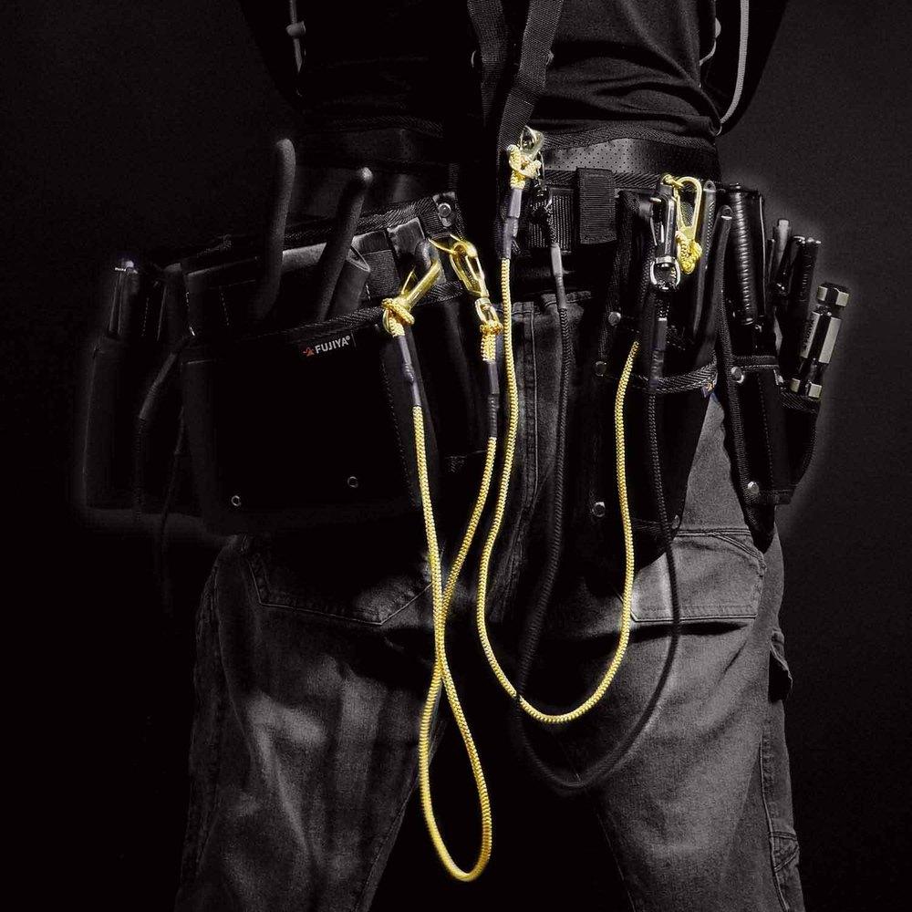 FUJIYA日本富士箭 工具安全吊繩-三吊扣-3kg(黑)