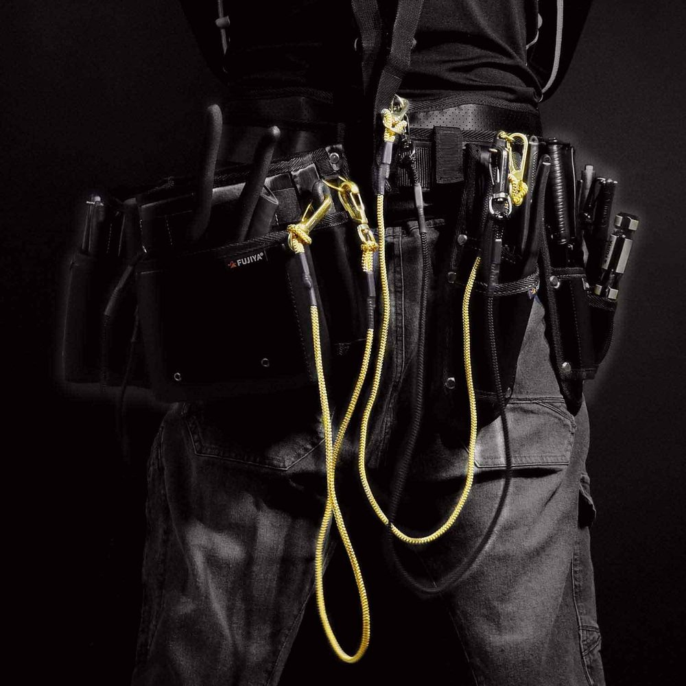FUJIYA日本富士箭|工具安全吊繩-鎖扣式-5kg(黑)