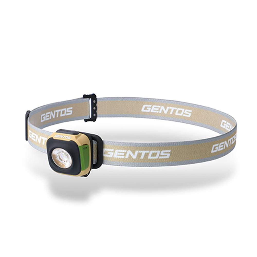 Gentos|CP四季配色輕便型頭燈 秋 棕色- USB充電 260流明 IPX4