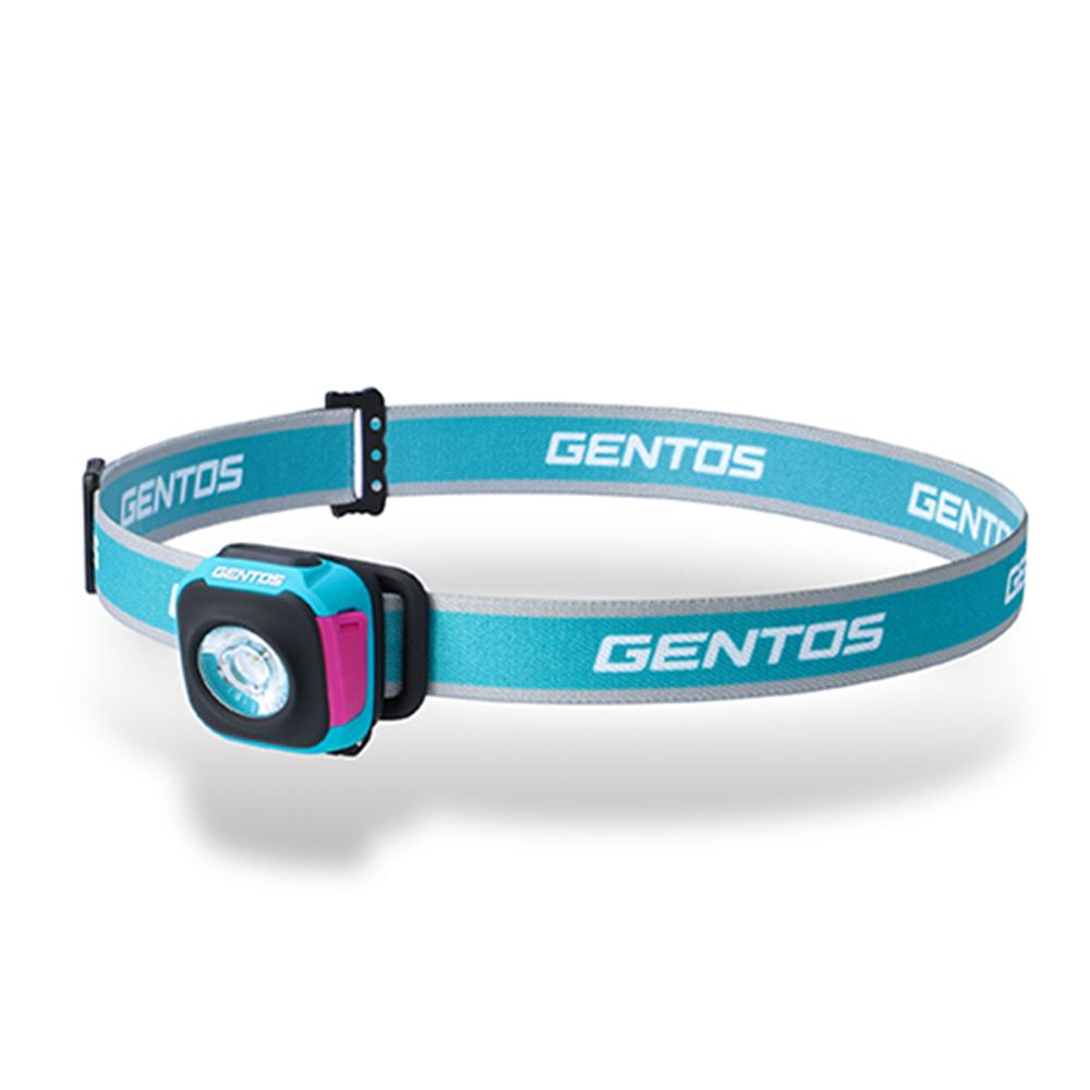 Gentos|CP四季配色輕便型頭燈 夏 天藍- USB充電 260流明 IPX4
