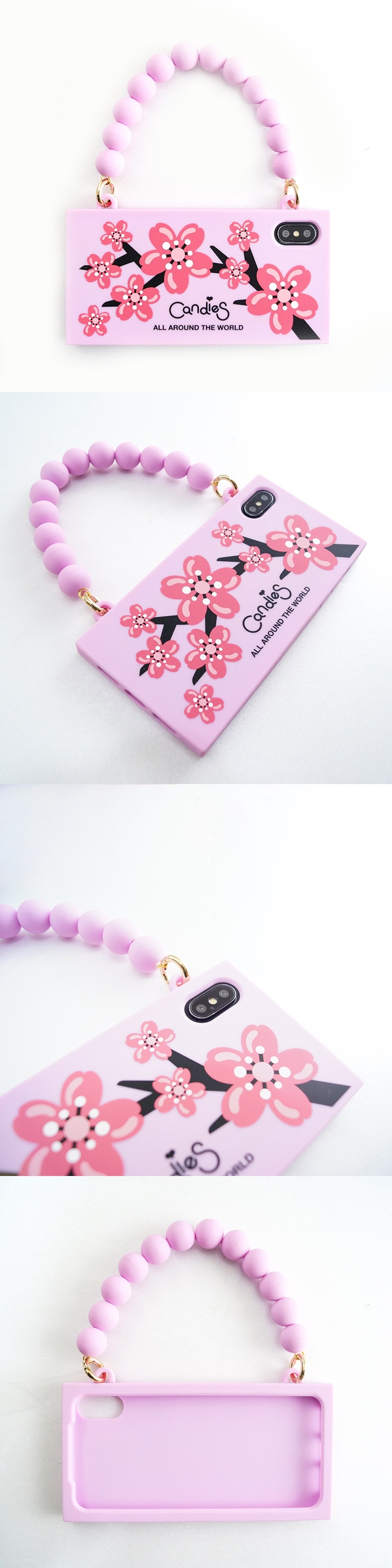 (複製)Candies|Blossom Heart玫瑰手提晚宴包(藍)-IPhone XS Max