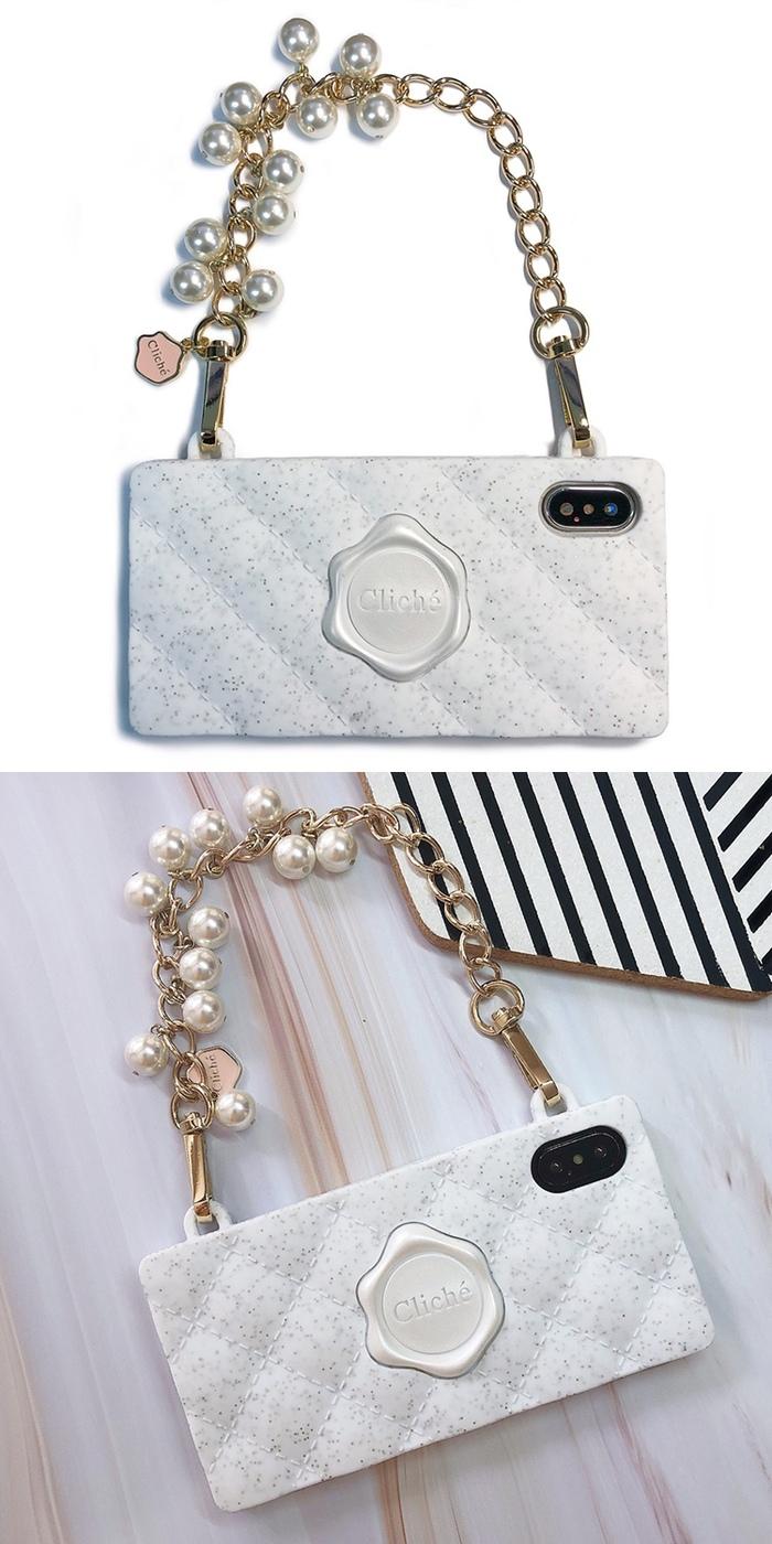 (複製)Candies|櫻花手提經典晚宴包(粉)-IPhone XS Max