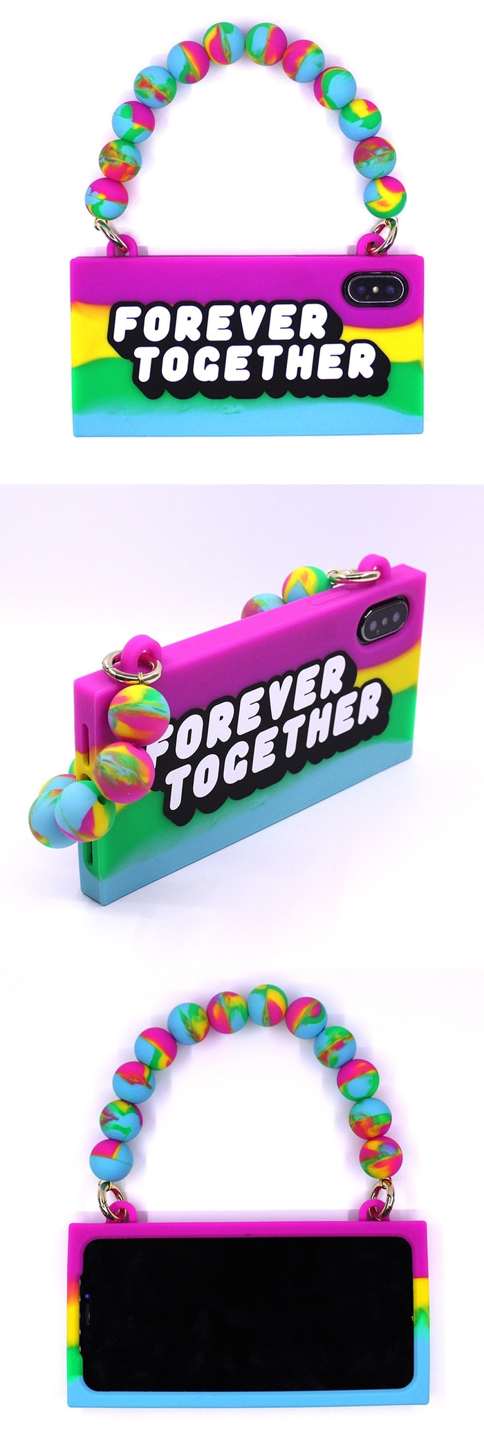 Candies|彩虹系列 FOREVER TOGETHER手提包-IPhone X/XS