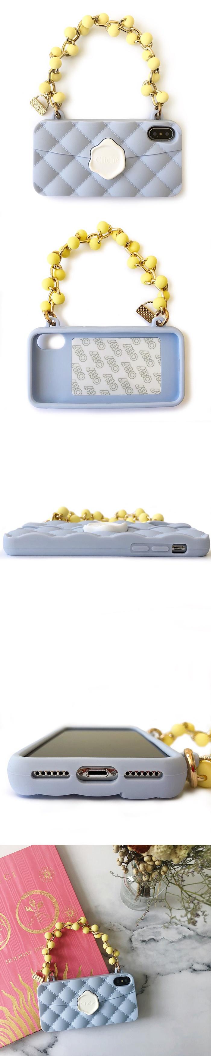 (複製)Candies|珠鍊經典晚宴包(湖水藍)-IPhone XS Max