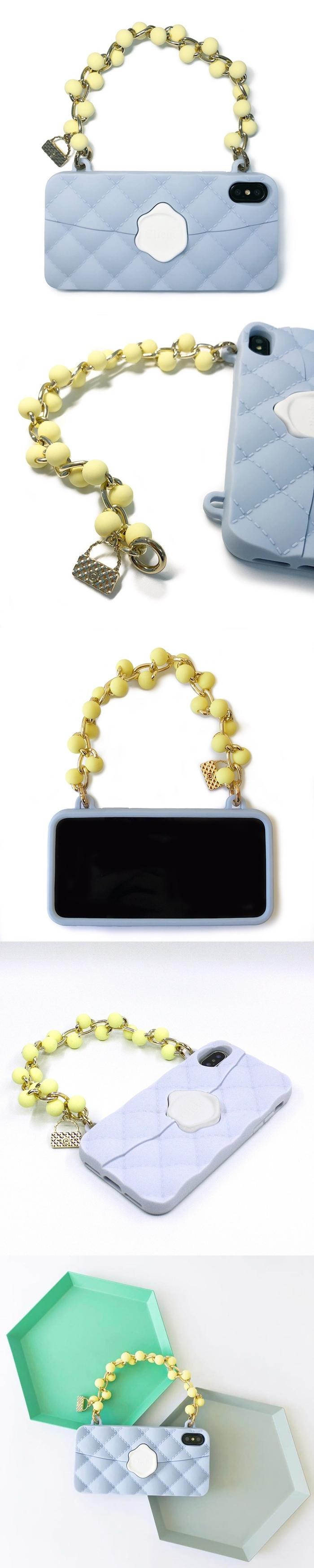 (複製)Candies|珠鍊經典晚宴包(湖水藍)-IPhone X/XS