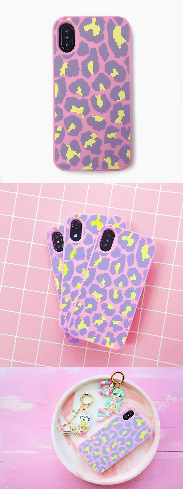 Candies|Simple系列 豹紋 (粉) - iPhone X.XS