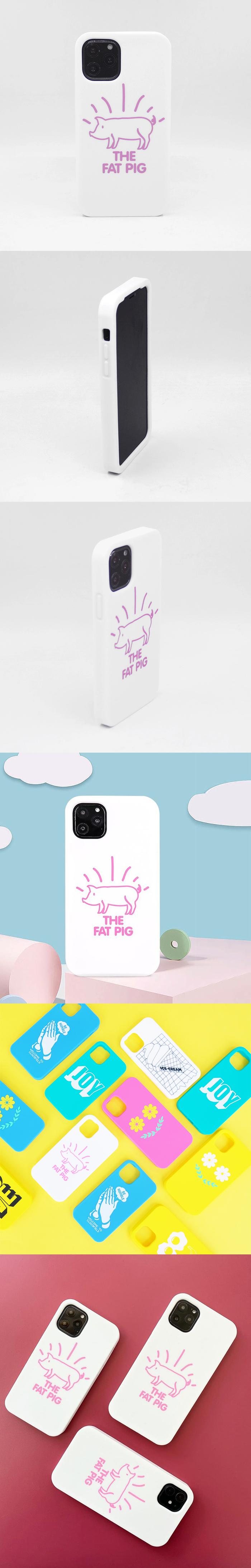 (複製)Candies|Simple系列 The Fat Pig(白) - iPhone 11