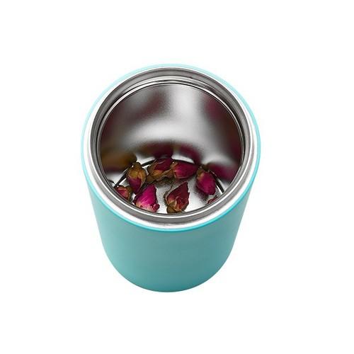 PO:Selected|丹麥掀蓋12oz保溫泡茶杯(亮粉)