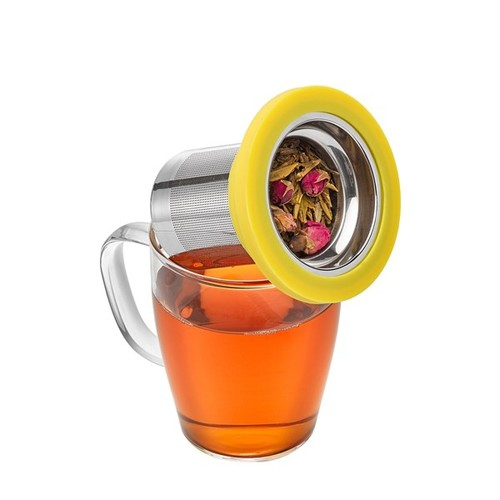 PO:Selected|丹麥泡茶玻璃杯350ml (白+黃)