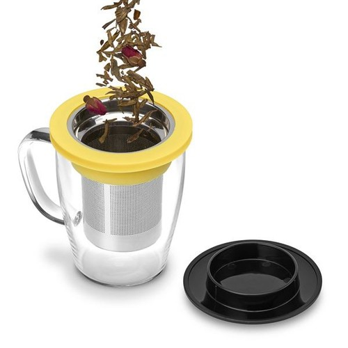 PO:Selected|丹麥泡茶玻璃杯350ml (白+藍)