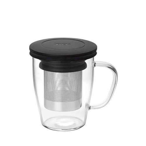 PO:Selected|丹麥泡茶玻璃杯350ml (黑)